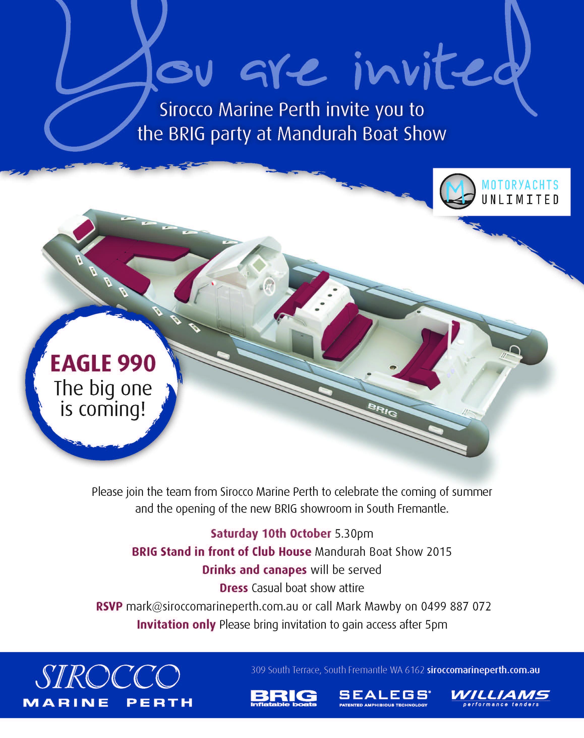 Sirocco Marine Perth Invite